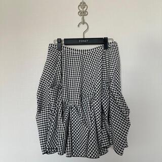 美品★マドーレ 40 ギンガムチェック スカート (ひざ丈スカート)