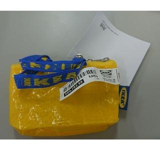 イケア(IKEA)の新品♥️ IKEAのエコバッグミニサイズ 黄色1個♥️キーホルダー付(小物入れ)