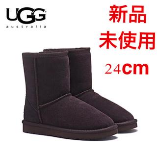 アグ(UGG)の新品未使用 UGG  ムートンブーツ Classicshort2  黒24cm(ブーツ)