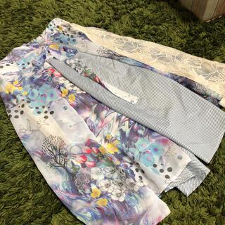 スカラー(ScoLar)の未使用 スカラー 花柄 異素材 レース 花柄 チュール スカート M(ひざ丈スカート)