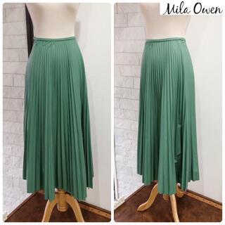 ミラオーウェン(Mila Owen)の未使用 定1万品 ミラ オーウェン スカート 雑誌掲載 グリーン系(ロングスカート)