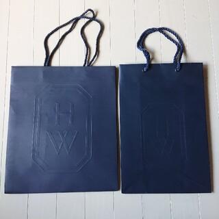 ハリーウィンストン(HARRY WINSTON)のハリーウィンストン◆紙袋 ショップバッグ ショッパー●2枚セット(ショップ袋)