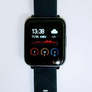 スマートウォッチ PZX F07【体温 血圧 血中酸数 心拍計 歩数計等】(腕時計(デジタル))