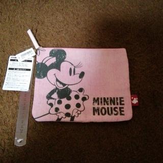 ミニーマウス(ミニーマウス)のディズニーリゾート ミニーマウス ピンクデニム調 フラットポーチ(ポーチ)