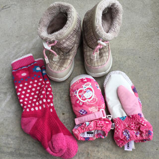 スノーブーツ 17cm   手袋&靴下セット(ブーツ)