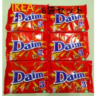 イケア(IKEA)のIKEA Daim アーモンド入り ミルクチョコレート6袋セット(菓子/デザート)