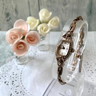 アガット(agete)の【美品】agete アガット 腕時計 0.18ct ダイヤ 限定 シェル(腕時計)