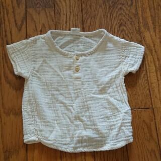 エイチアンドエイチ(H&H)の【新品未使用】H&M半袖Tシャツ68ベージュ4-6m(Tシャツ)