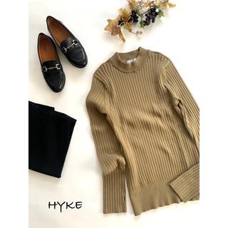 ハイク(HYKE)の【ハイク】指あきリブニット ライトカーキ(ニット/セーター)