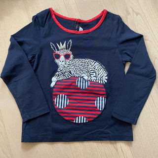 マークバイマークジェイコブス(MARC BY MARC JACOBS)の【美品】リトルマークジェイコブス 4歳 ロンT 100 お洒落 ネイビー(Tシャツ/カットソー)