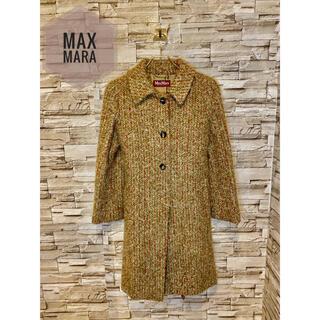 マックスマーラ(Max Mara)の【MAX MARA】高級 アルパカ混 ロングコート L レディース(ロングコート)