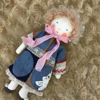 ミナペルホネン(mina perhonen)のドールチャーム ミナペルホネン ほのぼのドール 手作り人形 アンティークレース(人形)