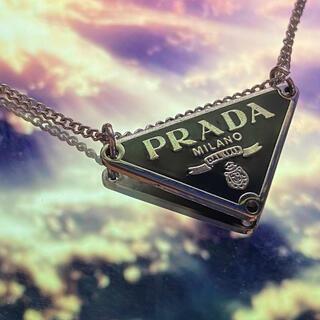 プラダ(PRADA)のプラダ ネックレス(黒)(ネックレス)