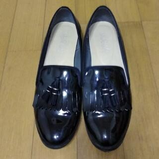 パンプス エナメル黒 24センチ(ハイヒール/パンプス)