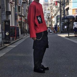 ジエダ(Jieda)のJieDa PATCH LONG SLEEVE T-SHIRT RED 1(Tシャツ(長袖/七分))