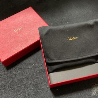 カルティエ(Cartier)のCARTIER カルティエ 2つ折り財布 ミニウォレット ブラック黒(折り財布)