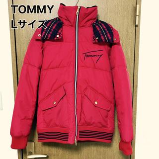 トミー(TOMMY)のトミー TOMMY ダウンジャケット フード付き チェック レッド ダブルジップ(ダウンジャケット)