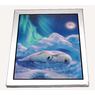 (注)2枚セット-癒しのヴェール カーク アニマル キャンバスアート 模写(ボードキャンバス)