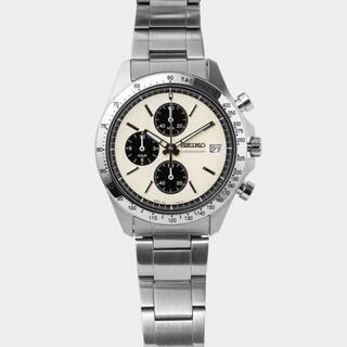 セイコー(SEIKO)の新品 セイコー×ナノ・ユニバース クロノグラフ 白 SZSJ006(腕時計(アナログ))