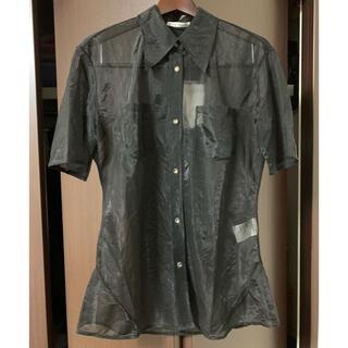 アクネ(ACNE)のAcne Studios シアーシャツ ブラック 未使用(シャツ/ブラウス(半袖/袖なし))