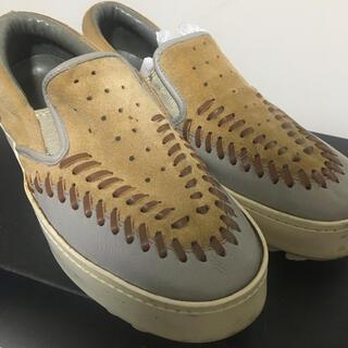 カラー(kolor)のkolor leather slip-on(スリッポン/モカシン)