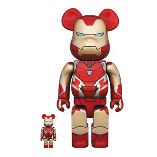 メディコムトイ(MEDICOM TOY)のBearbrick Iron Man Mark 85 400% 100%(キャラクターグッズ)
