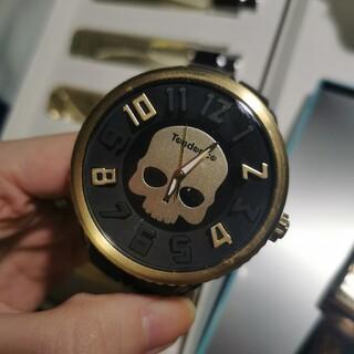 テンデンス(Tendence)のTENDENCE Hydrogen ハイドロゲン スカル 腕時計 ゴールド(腕時計(アナログ))