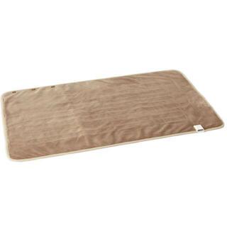 ムジルシリョウヒン(MUJI (無印良品))の羽織れる膝掛け ライトブラウン(電気毛布)