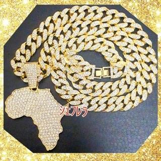 巨大大陸を制圧する! ラグジュアリー ゴールドネックレス アフリカデザイン(ネックレス)