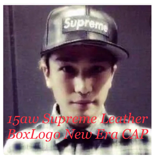 シュプリーム(Supreme)の15aw Supreme Leather BoxLogo New Era CAP(キャップ)
