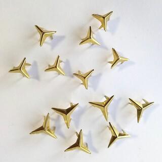 キワセイサクジョ(貴和製作所)のリメイクやポーチ等の飾りに ドイツ製 三角星 コターピン スタッズ セット(各種パーツ)