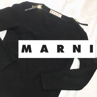 マルニ(Marni)のM001 マルニMARNI黒プルオーバーウールジャケット クーポンでさらに値引!(その他)