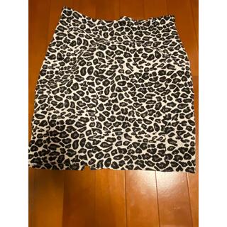豹柄 台形スカート(ミニスカート)