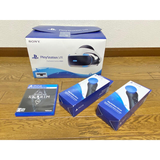 プレイステーションヴィーアール(PlayStation VR)の【新型】PlayStation VR PSVR Move2本 シューコン付(家庭用ゲーム機本体)
