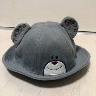 ホットビスケッツ(HOT BISCUITS)の新品 キッズ くま耳 ハット 帽子 グレー(帽子)