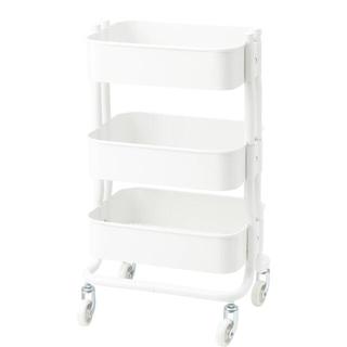 イケア(IKEA)のキッチンワゴンRÅSHULT ロースフルト ホワイト要組立て 新品 IKEA (キッチン収納)
