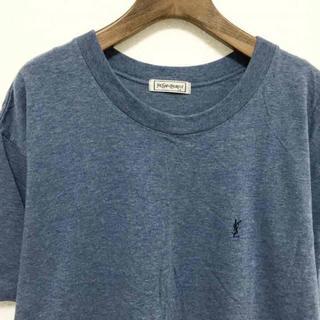 イヴサンローランボーテ(Yves Saint Laurent Beaute)の定番YSLワンポイント刺繍 Tee(Tシャツ/カットソー(半袖/袖なし))