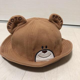 ホットビスケッツ(HOT BISCUITS)の新品未使用 キッズ くまハット くま耳 帽子 ブラウン(帽子)