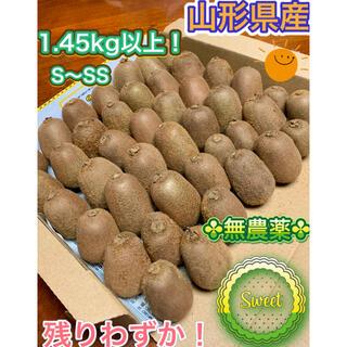 残りわずか!☆無農薬自然栽培☆キウイフルーツS~SS たっぷり1.45kg以上!(フルーツ)