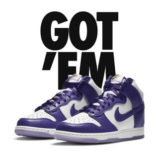 ナイキ(NIKE)のnike dunk high varsity purple womens29cm(スニーカー)