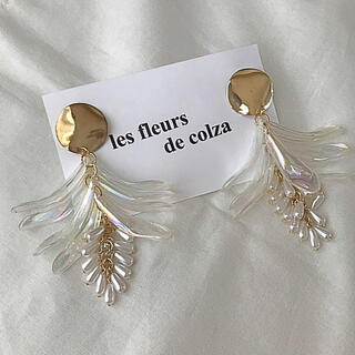 ザラ(ZARA)のaurora shell×drop perl pierce/earring(ピアス)