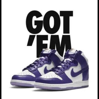 ナイキ(NIKE)のNIKE ダンクHIGH Varsity Purple DUNK(スニーカー)