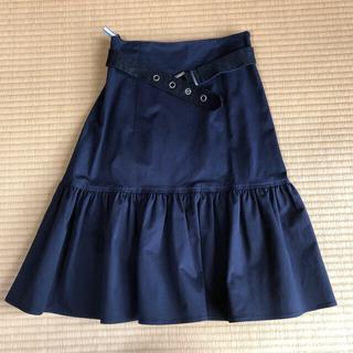 ケンゾー(KENZO)のKENZO フリルスカート(ひざ丈スカート)