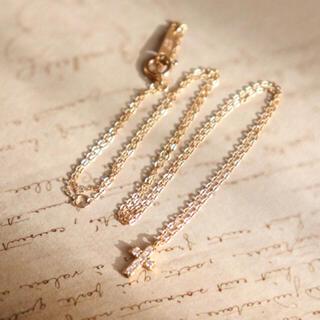 ケイウノ k18 クリスマス限定 クロス ダイヤ ネックレス(ネックレス)
