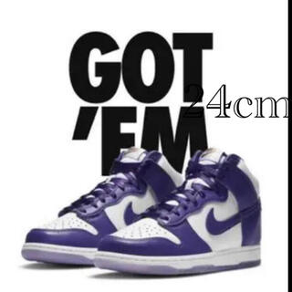 "ナイキ(NIKE)のNIKE DUNK HIGH WMNS ""VARSITY PURPLE""   (スニーカー)"
