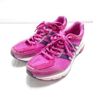 アディダス(adidas)の[adidas] ランニングシューズ 紫 24㎝(スニーカー)
