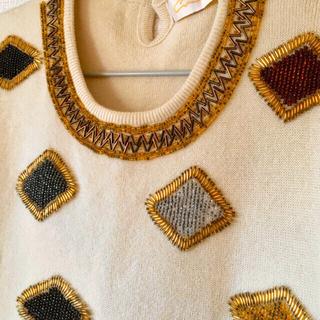 グリモワール(Grimoire)のビーズ刺繍ニット セーター ヴィンテージ  (ニット/セーター)
