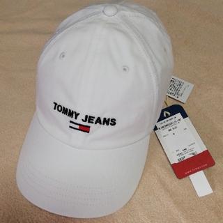 トミー(TOMMY)の【新品未使用品】トミー ジーンズ キャップ ホワイト(キャップ)