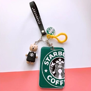 スターバックスコーヒー(Starbucks Coffee)のスターバックスベアリスタ   キーホルダー ストラップ パスケース 黒エプロン(キーホルダー)