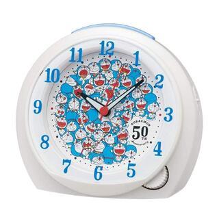 セイコー(SEIKO)のセイコークロック 目覚まし時計 ドラえもん 50周年記念 白パール CQ803W(置時計)